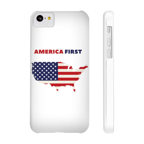 America First - Slim Phone Case -Patriotic