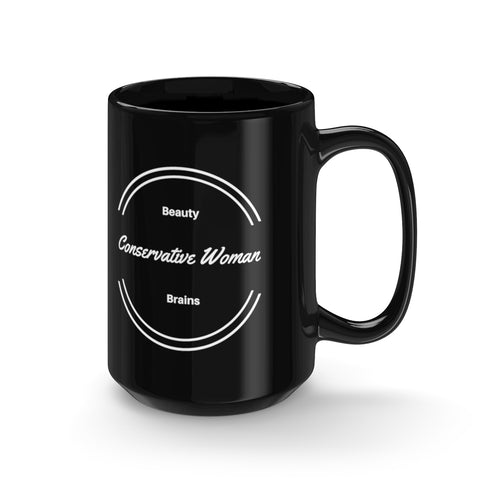 Conservative Woman - Black Mug 15oz