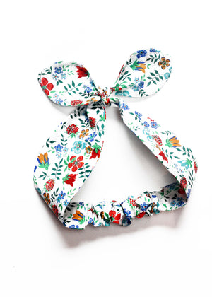 Top Knot Girls Hair Band - Michelle Liberty Print