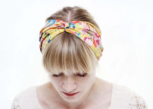liberty print twist headband