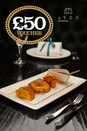4500 Gift Vouchers - Oxford £37.50 for £50