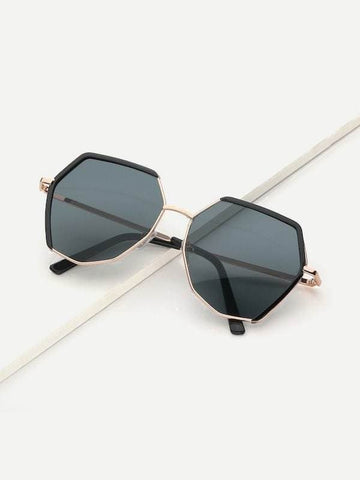 Grey Boho Metal Frame Sunglasses