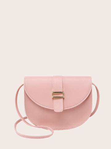 Pink Metal Detail Saddle Bag