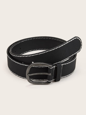 Black Seam Detail Belt