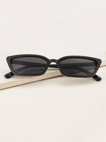 Black Plain Cat Eye Sunglasses