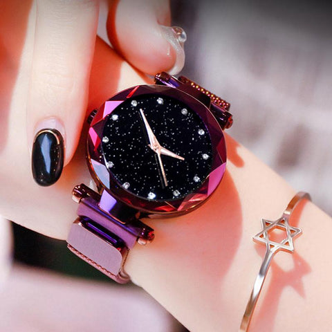 Starry Sky Luxury Magnetic Buckle Quartz Wristwatch