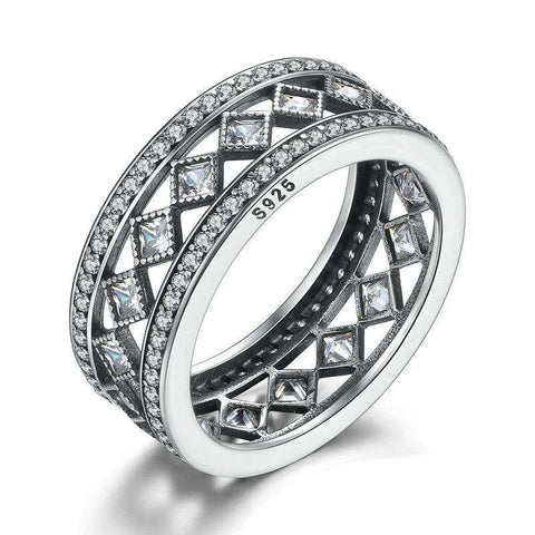 High Quality Real 925 Sterling Silver Vintage Fascination Ring