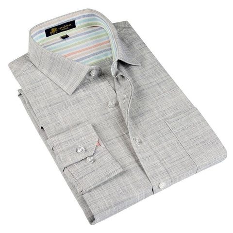 Slim Fit Linen Long Sleeve Business Shirt