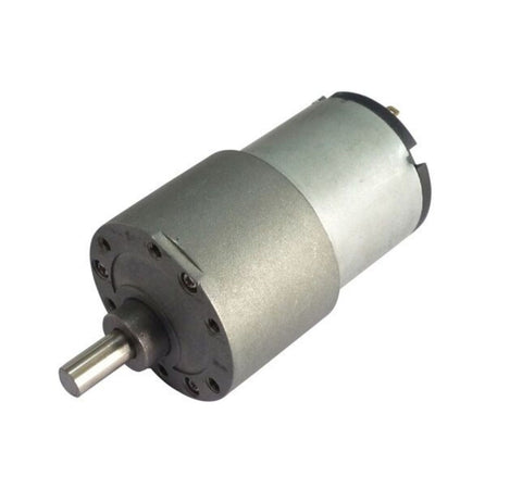 24v DC Gear, Geared Offside Motor 5 rpm (approx) High Torque - Side Shaft - Robodo