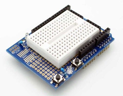 Prototyping Prototype Proto Shield + 170 Mini Breadboard for Arduino