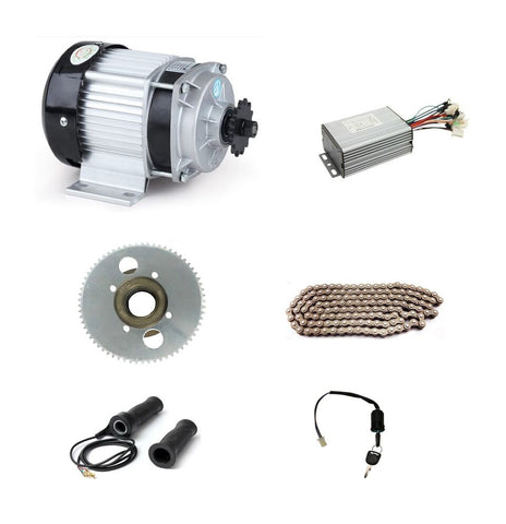 DC 48V 350W BM1418ZXF brushless motor, electric bicycle kit, DIY E-Tricycle - Robodo