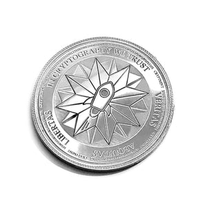 Laser Engraved Silver Physical Stellar coin Wallet