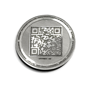 Laser Engraved Silver Physical Bitcoin Wallet