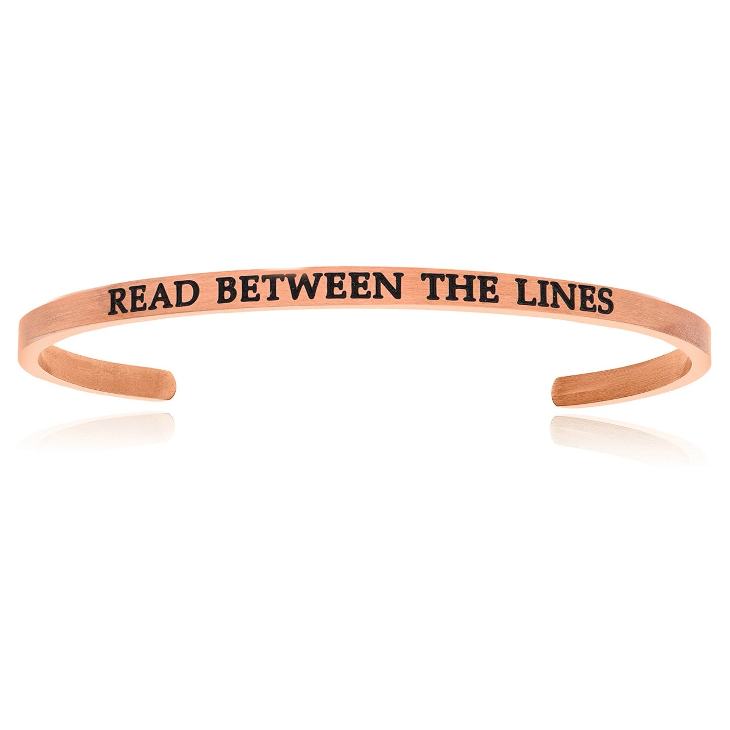 Pink Stainless Steel Read Between The Lines Cuff Bracelet