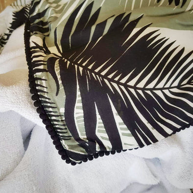 Tropical Bali Palm Sarong & Terry Toweling Beach Towels