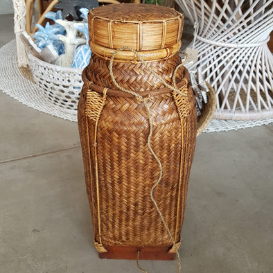 Tall Rattan Storage Baskets With Lids