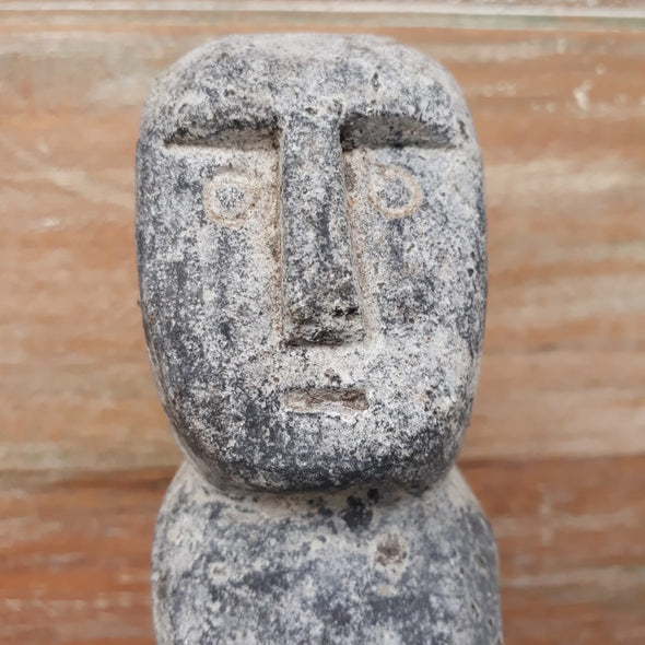 Standing Person Stone Statue with Stand