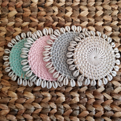 Small Rattan Drink Coasters