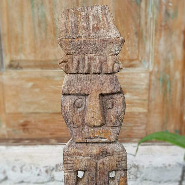 Tribal Wooden Standing Man Figure