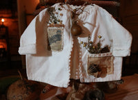 Childs Flannel Jacket Undershirt Primitive Spring Gathering