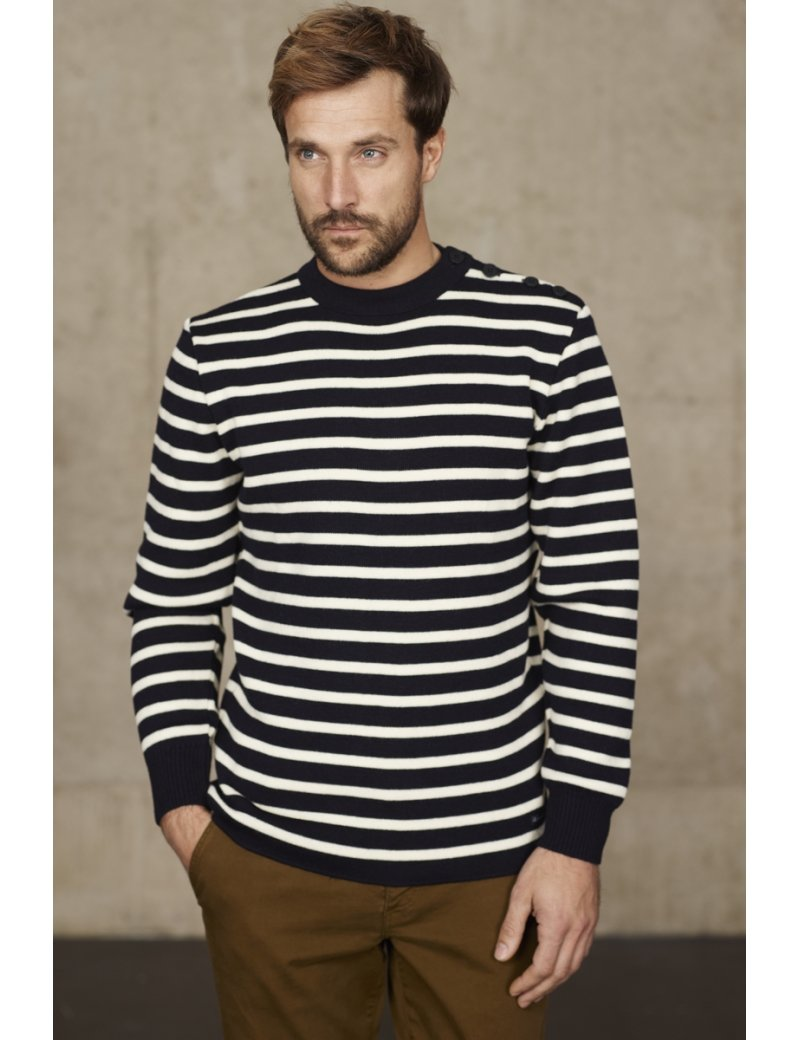 Armor Lux Wool Stripe Crew Pullover