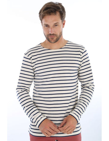 Armorlux Breton Stripe LS T-Shirt Nature/Navy