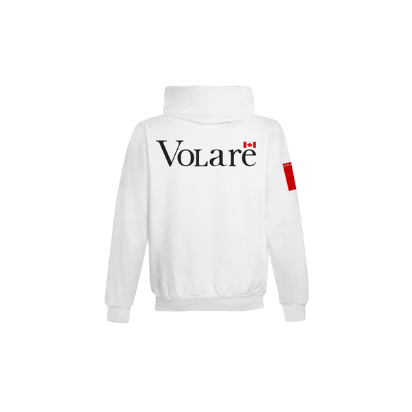 Volare Canada Day '19 Wordmark Pullover Hoodie - White