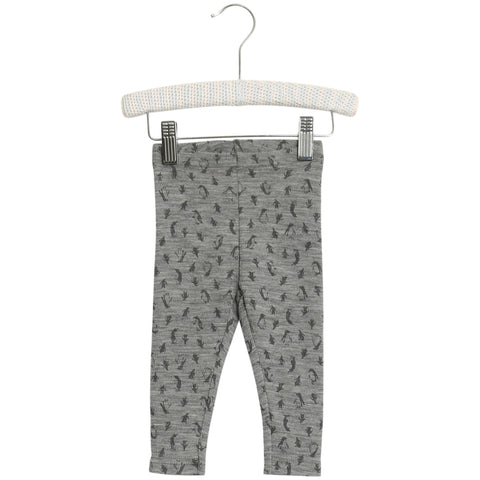 Wool Leggings with Rabbit print