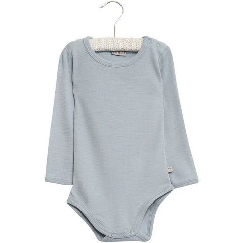 Bodysuit Gathered Wool Long Sleeve with Individual Rabbit Print