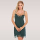 Women Sexy Nightgown Lace Trim Lingerie Nightwear with High Quality