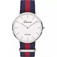 Geneva Platimum Nylon Fabric watch
