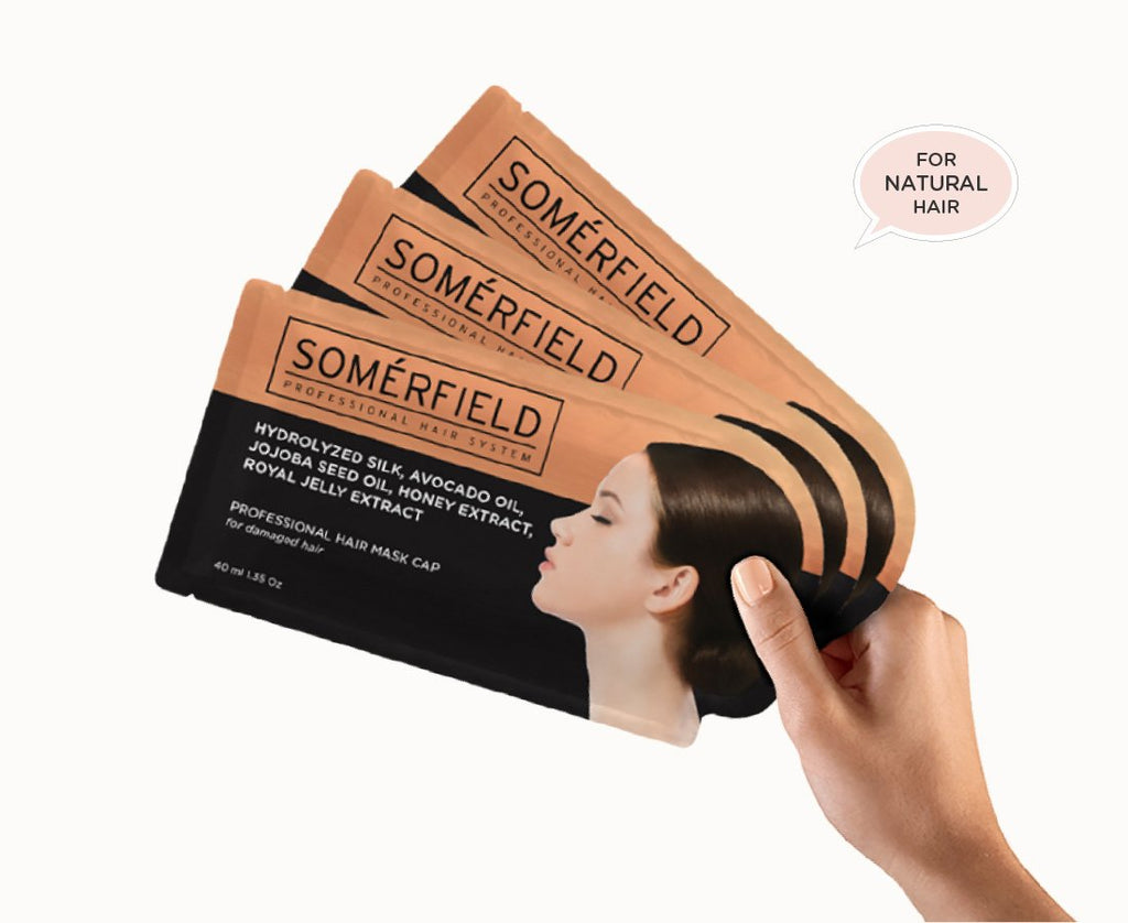 Somerfield Hair Mask 3 Pack Natural Hair Dry Hair Damaged Hair Frizzy Hair
