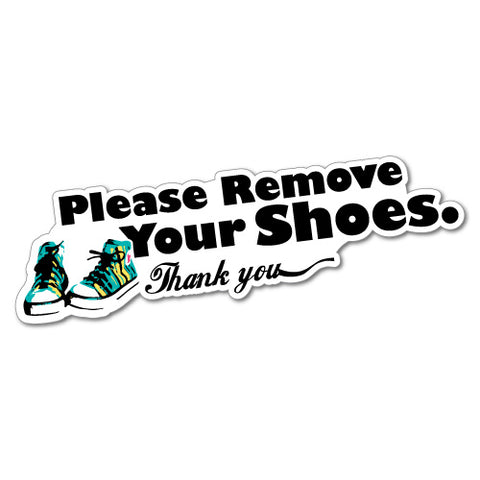 Please Remove Your Shoes Sticker