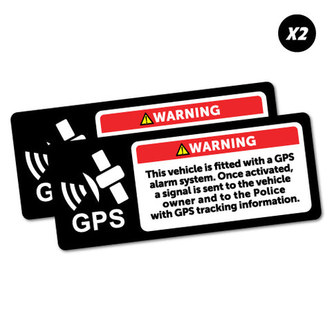 2X Warning Gps Alarm System Sticker