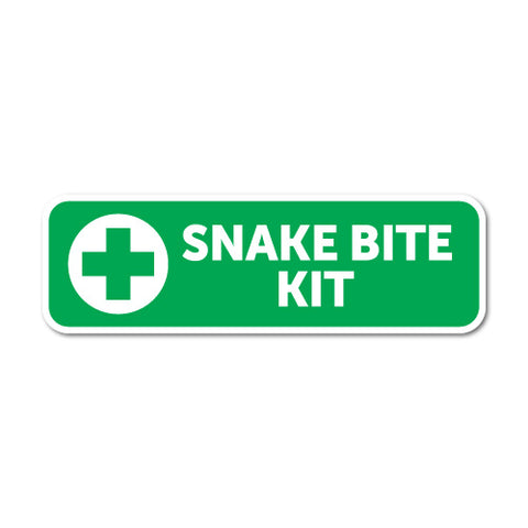 Snake Bite Kit Sticker