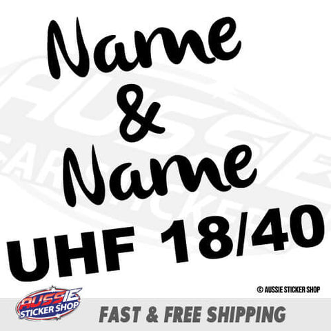 Custom Name Uhf Radio Channel Num Caravan Sticker