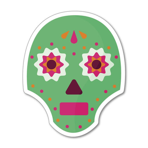 Mexican Skull Sticker Decal