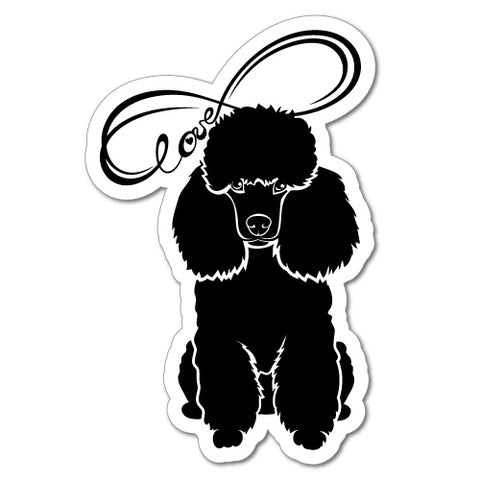 Poodle Infinity Love Sticker