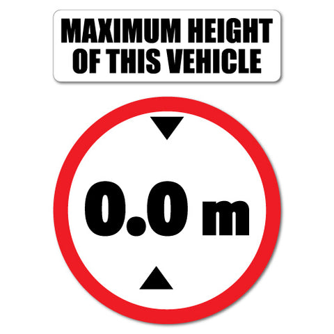 Custom Maximum Height Of This Vehicle Cab Hgv Sticker