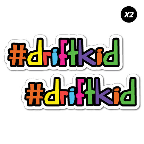2X Hashtag Drift Kid Junior Ride On Kid Car Toy Sticker