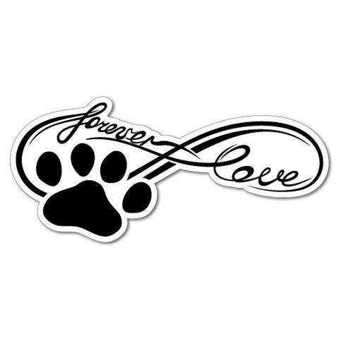 Love Forever Infinity Pet Paw Sticker