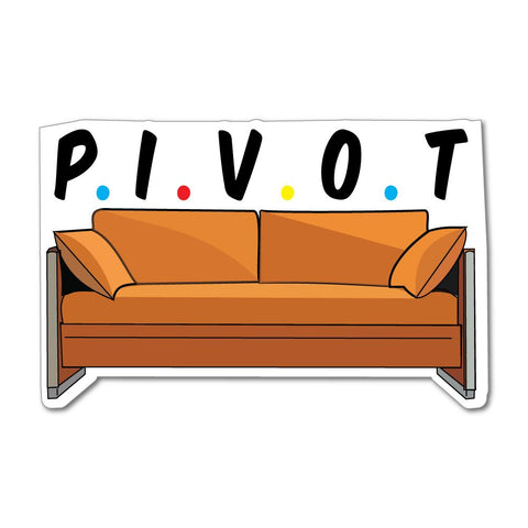 Friends Pivot Sofa Series Funny Car Sticker Decal