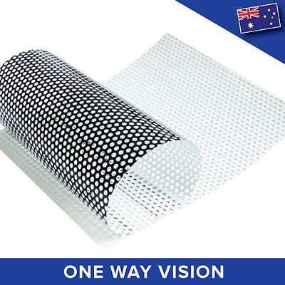 One Way Vision Perforated Printable Vinyl Vehicle Car Privacy Film  [5M X 1.37M]