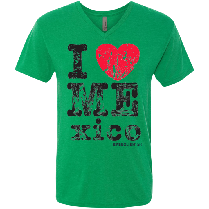 I LOVE MEXICO  -  Next Level unisexTriblend V-Neck T-Shirt