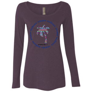 WORRY MAÑANA -  Next Level Ladies' Triblend LS Scoop