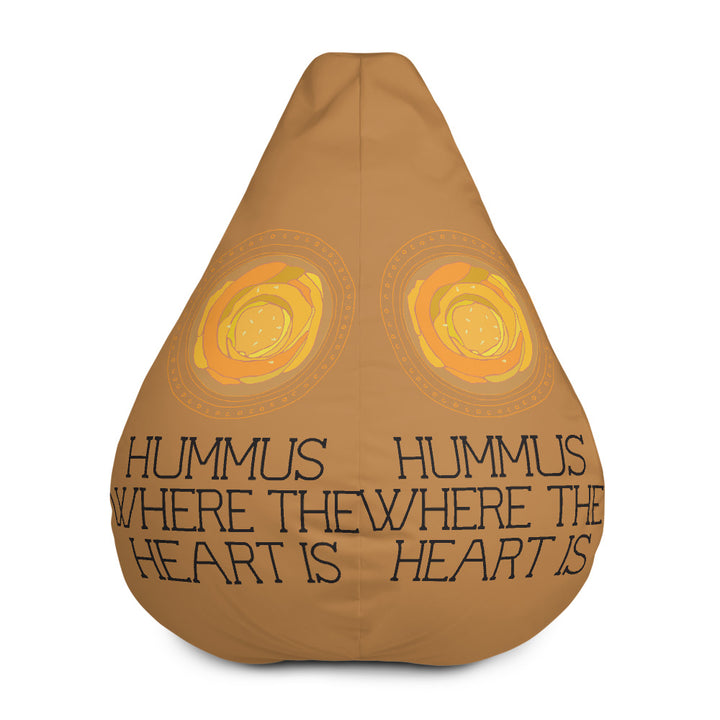 Hummus where the heart is - All-Over Print Bean Bag Chair w/ filling