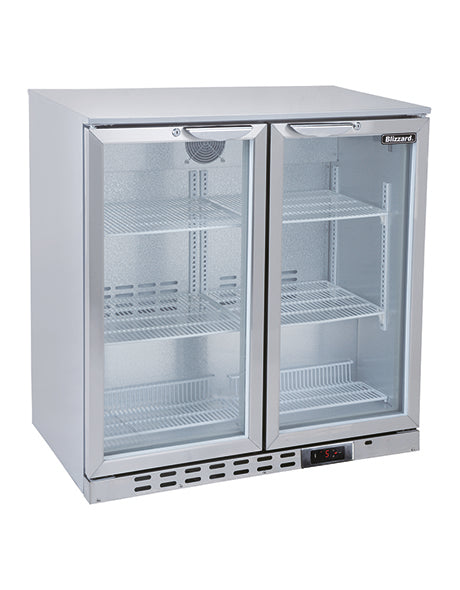 Blizzard 200 Litre Two Door Bottle Cooler BAR2SS
