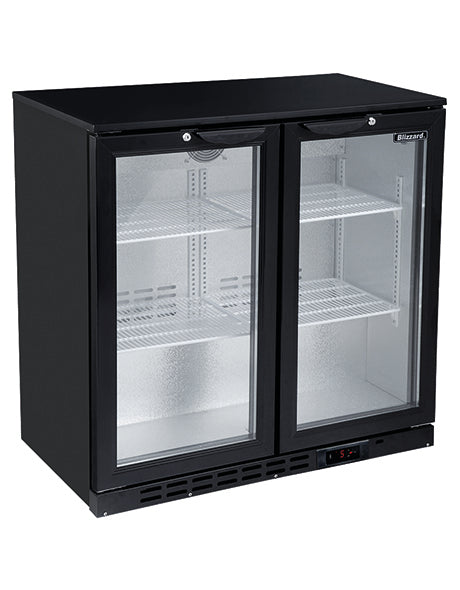 Blizzard 200 Litre Two Door Bottle Cooler BAR2