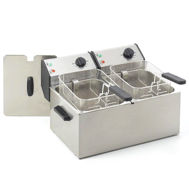Roller Grill Electric Tabletop Double Fryer FD80D