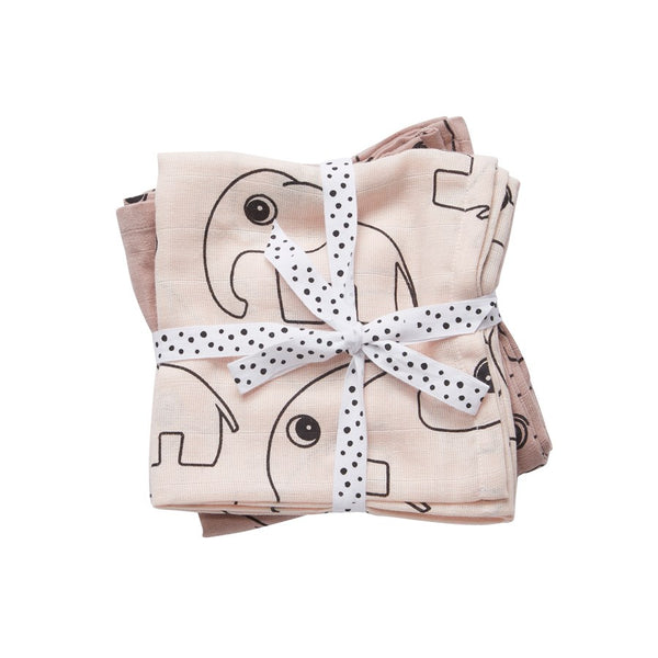 Done By Deer Contour Swaddle 2 - Pack Powder - toybox.ae